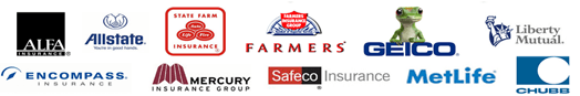 STATE FARM Liberty Mutuál Allstate. | ALFA FARMERS GEICO INSURANCE FTTLILTIR C Safeco Insurance MetLife ENCOMPASS MERCURY INSURANCE GROUP NSURANGE CHUBB